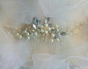 Wedding Hair Accessories Pearl wedding hair accessories Pearl wedding comb Pearl  Pearl Bridal Hair Comb Bridal Hair Accessories