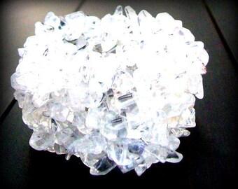 Quartz crystal  bracelet, crystal bracelet,ILLUMINATE, clear quartz crystal bracelet, quartz crystal, stone stretch bracelet