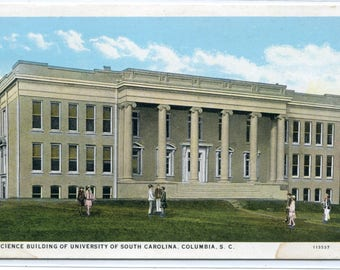 Science Building University South Carolina Columbia SC 1930s postcard