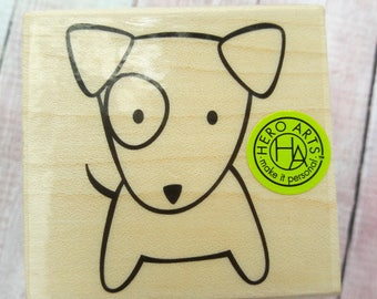 Cute Dog Wood Mounted Rubber Stamp By Hero Arts Scrapbooking & Paper Craft Supplies