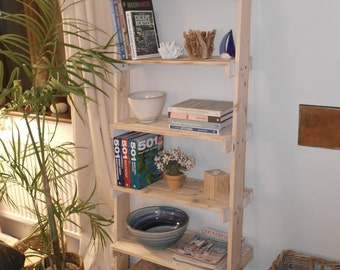 Ladder Shelf Unit - Recycled Pallet Shelves