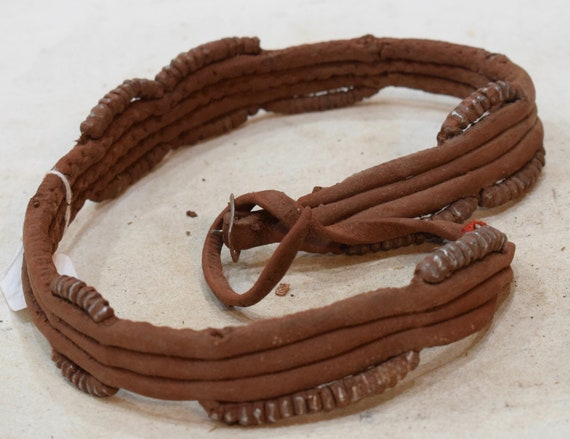 African Belt Leather Metal Pattern Himba Tribe Traditional Belt