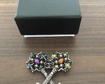 Chanel Key Pin Brooch
