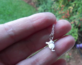 Cute mouse sterling silver necklace gift for teenager gift for girl