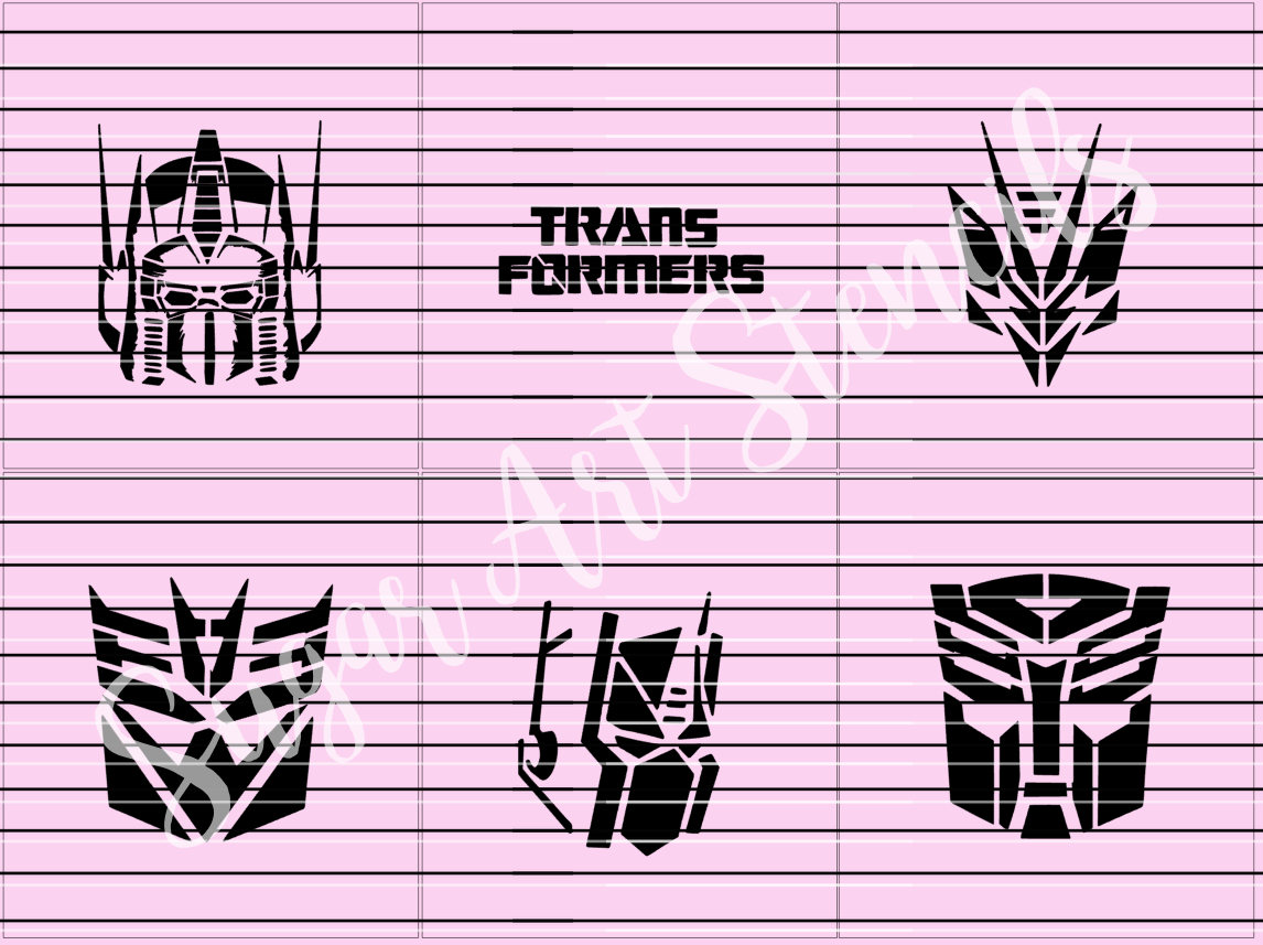 Transformers cookie stencils set of 6 SL2037