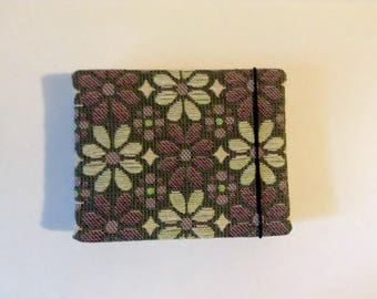 Purple Flower Mini Bound Books Coptic Stitch Handmade Handbound Blank Notebook