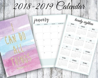 I Can Do All Things 2018-2019 Calendar
