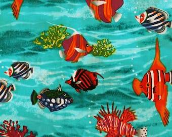 Tropical Fish by Shamash & Sons 4020 Cotton Print Fabric - OOP