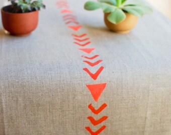 Arrow Linen Tea Towel - 100% natural linen block printed kitchen towel