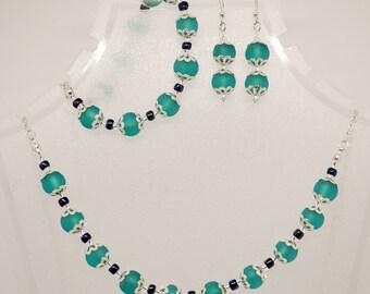 Art Nouveau Necklace, Bracelet and Earrings Set / Unique and Ethical Vegan, Steampunk and Vintage Jewellery Set