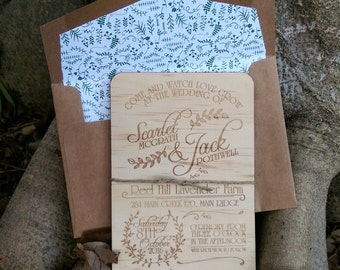 Wood Invitations