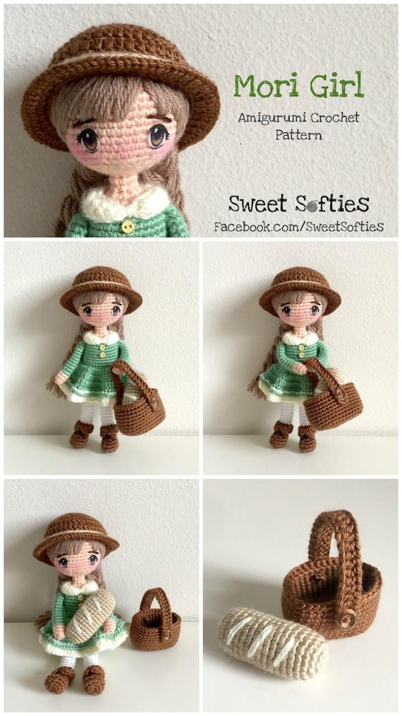 Mori Girl Doll Amigurumi Crochet Pattern Fairy Tale Kawaii