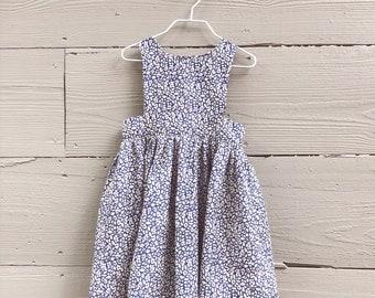 Girls Pinafore Dress / Toddler Pinafore Dress / Rifle Paper Co. Dress / Liberty of London Dress
