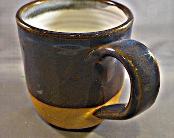 Blue and white coffee/tea mugs