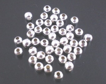 Beads, beads, spacers, gold or silver, 4 mm Pu to choose: 50 or 100 PCs.