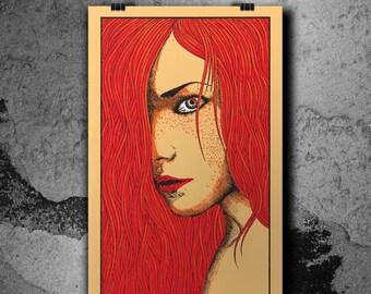 Mila -  4 Colors Hand Print Silkscreen Poster