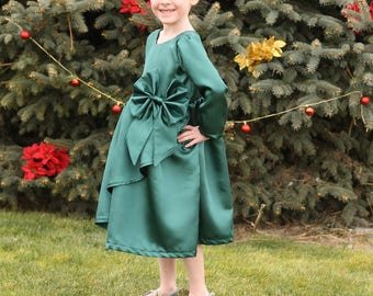 Poinsettia Party Dress  Sizes 3 month to 12 years