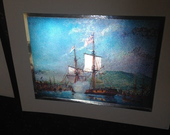U.S. Ships of '76, 4 Color-Etch Collectible Prints