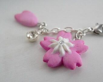 Sakura and Petal Charm | Cherry Blossom | Polymer clay