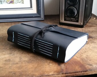 Handmade Leather Journal, Dark Gray 4.75 x 6 Journal by The Orange Windmill on Etsy 1785