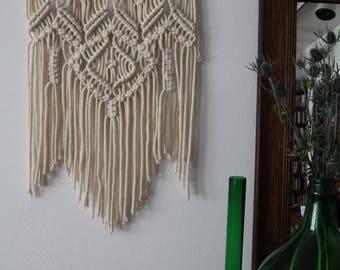 macrame wall hanging / 100% cotton cord / ecru / tree branch
