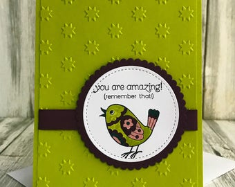 Stampin Up Handmade Greeting Card, You are Amazing Card