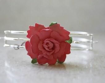 Fiber Rose Bracelets