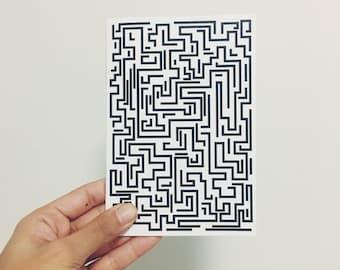 Maze Lined Notebook