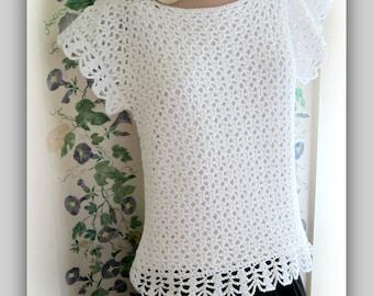 Sideways Sassy Lace Top Pattern Women Small to 2X
