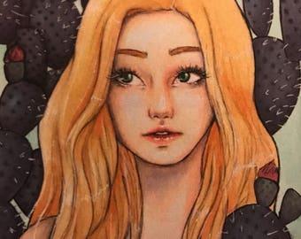 Small Rita Art Print