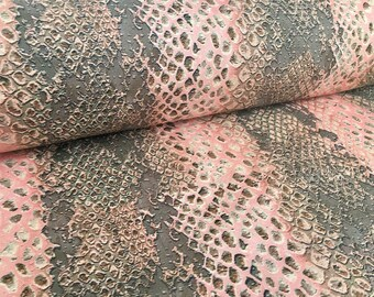CORAL SNAKE Skin Digital Curtain Upholstery Fabric Animal Material -160cm wide
