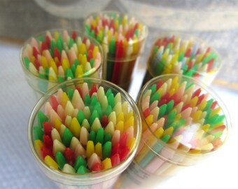 Vintage Spir-it Cocktail Hors d'oeuvres Colorful Plastic Picks New Old Stock