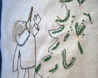 Harry Potter Christmas cross stitch kit