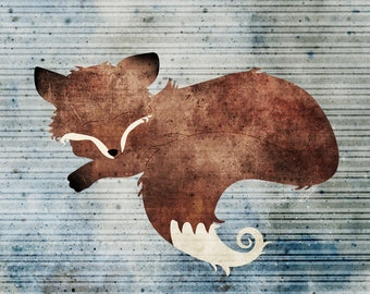 DIGITAL Download Original Fox Wall Art Rebecca Johnson