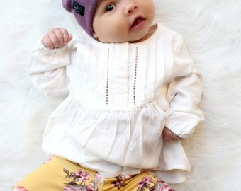 Any Size / Butter-Soft Beanie / Purple Slouchy Beanie / Warm and Cozy Hat for Newborn to Adult