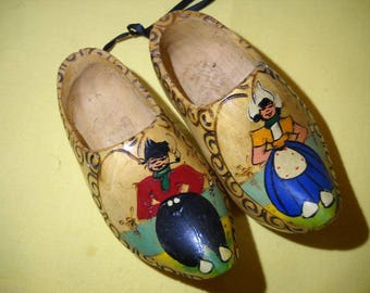 A pair of decorative Wooden shoes