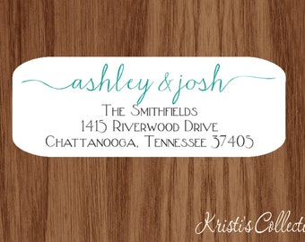 Couples Return Address Labels Stickers - Personalized Family Return Address Mailing Shipping Label - Wedding Bridal Shower Anniversary Gifts