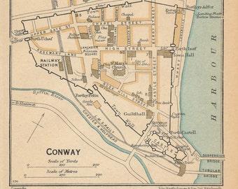 1948 Conwy, Wales, United Kingdom (Great Britain) Vintage map