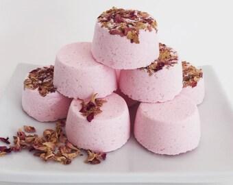 Pink Rose Petal x 4 Bath Bomb Handmade Gift Set