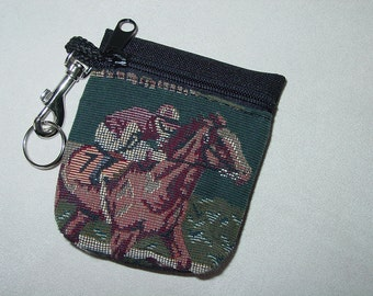 Churchill Downs Horse Racing Tapestry  Belt Pack/Key Chain Combo Kentucky Derby