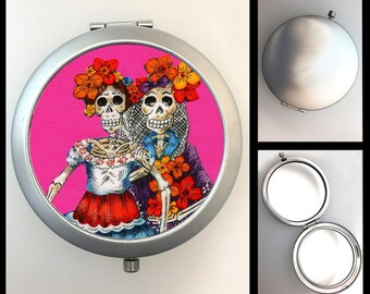 Compact Mirror Day of the Dead Skeleton Girls #170