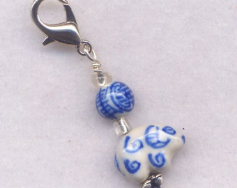 Sheep Stitch Marker Clip Hand Painted Ceramic Goat Ram Merino Single /SM233A