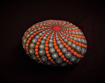 mantala stone dot painting ~turbo dark galaxy