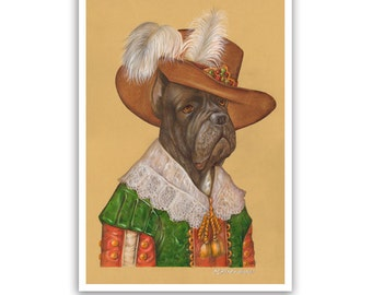 Cane Corso Art Print - the Musketeer - Dog Art & Living Room Decor - Dog Portraits by Animal Century