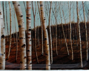 fiber tray  38x27cm  Birch Tree Forest