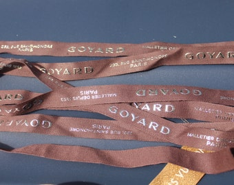 "GOYARD authentic ribbon 1/2"" wide various lengths"