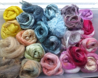 Hope Jacare - Hand dyed speciality fibre pack -  approx 140g mixed plant/speciality fibres - PLF62