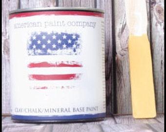 Amber Waves of Grain mustard yellow color American Paint Company APC chalk clay paint DIY quart furniture distress shabby chic qt