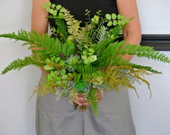 Botanical Succulent & foliage brides bouquet