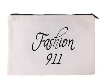 Fashion 911 Cosmetic Bag | Makeup Bag | Make Up | Funny | Carry All